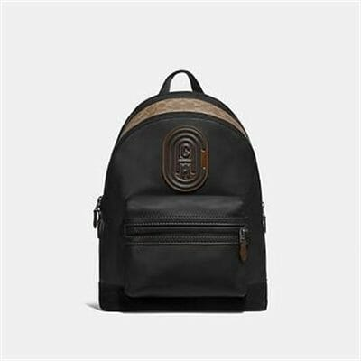 Fashion 4 - ACADEMY BACKPACK WITH SIGNATURE CANVAS BLOCKING AND COACH PATCH