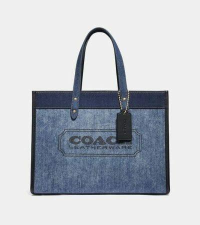 Fashion 4 - Denim with Coach Branding Field Tote 30