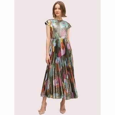 Fashion 4 - Floral Collage Shimmer Dress