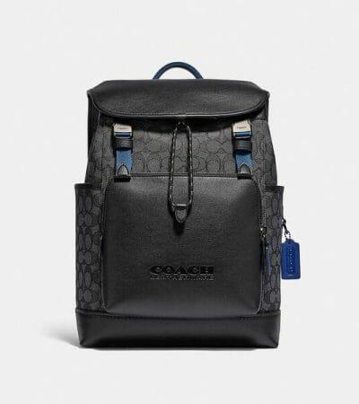 Fashion 4 - League Flap Backpack In Signature Jacquard