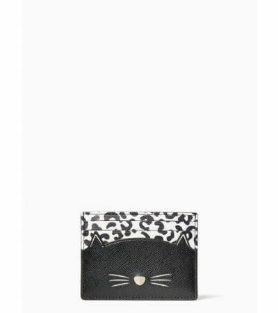 Fashion 4 - Meow Cat Small Slim Cardholder
