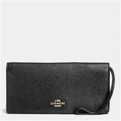 Fashion 4 - SLIM WALLET IN POLISHED PEBBLE LEATHER