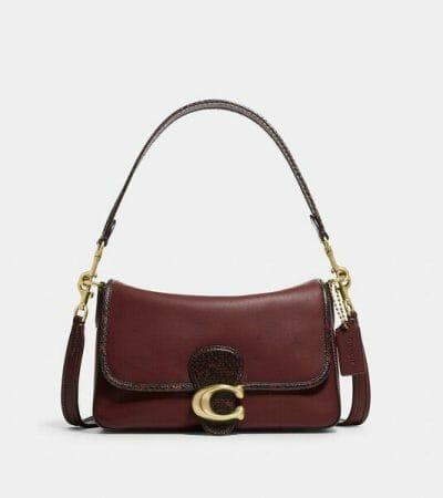 Fashion 4 - Soft Tabby Shoulder Bag With Snakeskin Detail