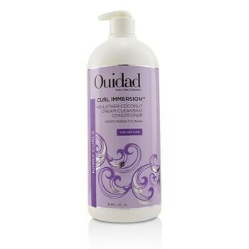 OJAM Online Shopping - Ouidad Curl Immersion No-Lather Coconut Cream Cleansing Conditioner (Kinky Curls) 1000ml/33.8oz Hair Care